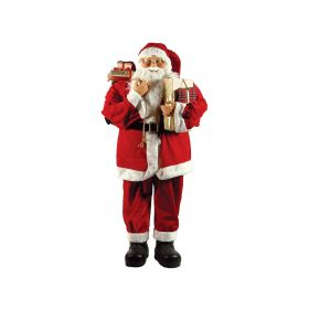 PLUSH FLOOR SANTA CLAUS 80cm