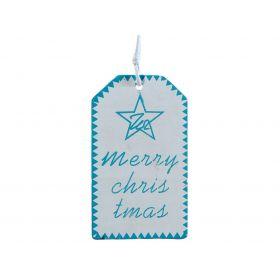 Ξύλινο Κρεμαστό Χριστουγεννιάτικο Στολίδι 6 x 11(h)cm