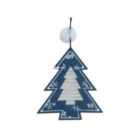 Ξύλινο Κρεμαστό Χριστουγεννιάτικο Στολίδι 9 x 10(h)cm