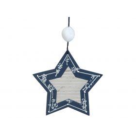 Ξύλινο Κρεμαστό Χριστουγεννιάτικο Στολίδι 10 x 10(h)cm