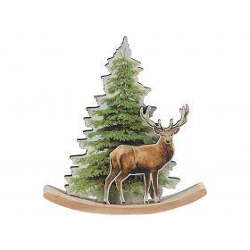 Ξύλινο Επιτραπέζιο Χριστουγεννιάτικο Στολίδι 2,5 x 15 x 16(h)cm
