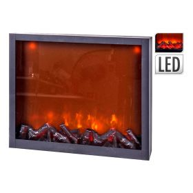 Διακοσμητικό Επιδαπέδιο Τζάκι Με Φώς Και Κίνηση Φλόγας 29 x 10 x 23(h)cm ,Με Μετασχηματιστή