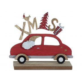 Ξύλινο Επιτραπέζιο Χριστουγεννιάτικο Διακοσμητικό 5 x 12 x 15(h)cm