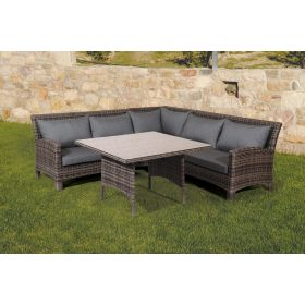 Corner Seating Rattan 4 Piece Set