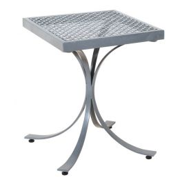 Ungalvanized square metal table 45 x 45 x 57 (h) cm