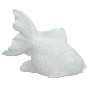 Φωτιζόμενο Διακοσμητικό Ψάρι Απο Πορσελάνη 22 x 8.5 x 16(h)cm