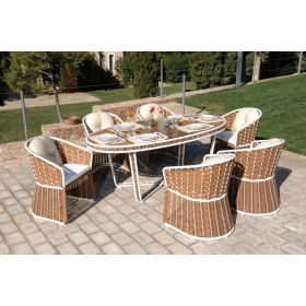 Rattan Dining Set 7 Pieces