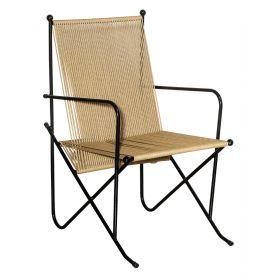 Μεταλλική Στοιβαζόμενη Πολυθρόνα Με Textilene Κορδόνι