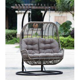 Rattan Κουνιστή Καρέκλα Με Μεταλλική Βάση