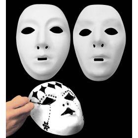 Λευκή Αποκριάτικη Μάσκα Προσώπου Που Ζωγραφίζεται
