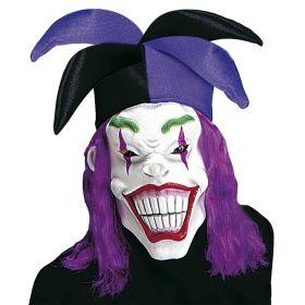 Αποκριάτικη Μάσκα Joker Με Καπέλο Και Μαλλί