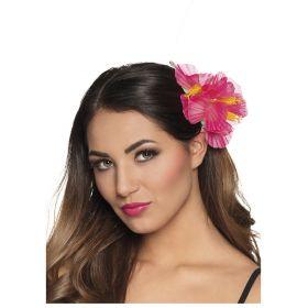 Ρόζ Αποκριάτικο Λουλούδι Ιβίσκος Για Τα Μαλλιά