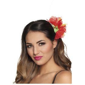 Κόκκινο Αποκριάτικο Λουλούδι Ιβίσκος Για Τα Μαλλιά
