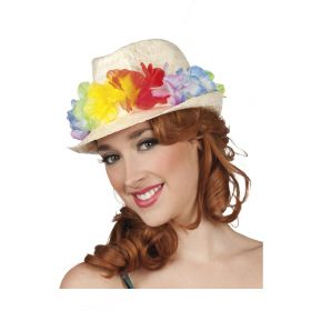Αποκριάτικο Καπέλο Χαβανέζας Με Λουλούδια