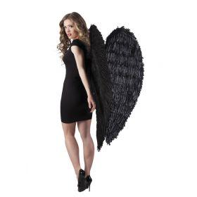 Μαύρα Αποκριάτικα Φτερά Πλάτης 120 x 120cm