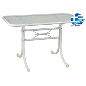 Metal Parallelogram table wrought-iron 140 x 70 x 73 (h) cm