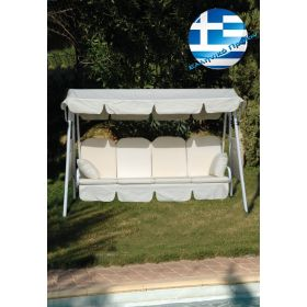 Set of Pillows And Canopy For Metal French Swing With Seat 115cm