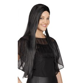 Μαύρη Μακριά Αποκριάτικη Περούκα