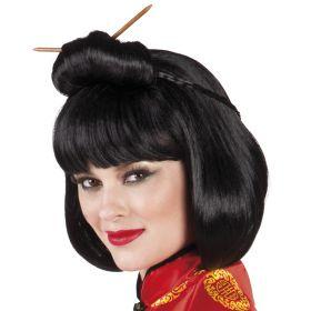 Μαύρη Αποκριάτικη Περούκα Κινέζας