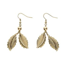 HALLOWEEN GOLD EARRINGS LEAVES