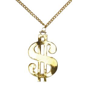 Χρυσό Μεταλλικό Αποκριάτικο Μενταγιόν Δολλάριο