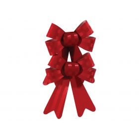 RED Christmas bow 18cm,SET 2 PIECES
