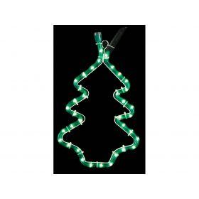 Φωτιζόμενο Σχέδιο Πράσινο Σταθερό Δέντρο ,23 x 34(Η)cm