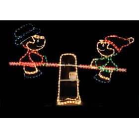 Φωτιζόμενο Σχέδιο Άγιος Τραμπάλα Με Κίνηση ,120(h) x 80(h)cm