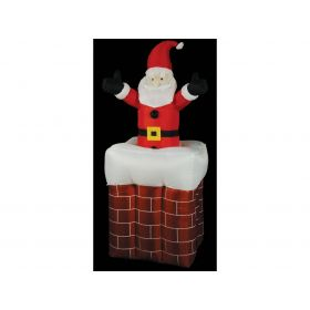 illuminated inflatable chimney Claus,200 (H) x 100 x 100cm