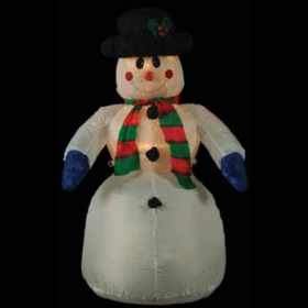 FOUSKOTOS CHIONISMENOS SNOWMAN WITH WARM LIGHT,180cm