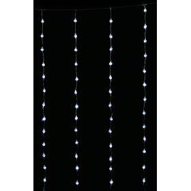 Συμετρική Κουρτίνα Led Με Διάφανο Καλώδιο - Διάφανο Λαμπάκι 200 x 200cm