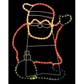 Φωτιζόμενο Σχέδιο Άγιος Βασίλης  Με Φωτοσωλήνα ,77(Η) x 60cm