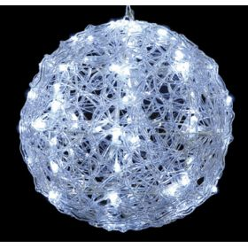 LED illuminated ACRYLIC BALL WITH ADAPTER IP44 ME cold light 25cm