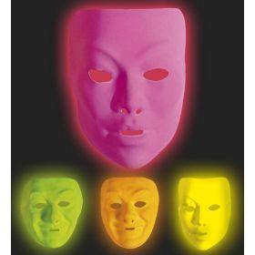 Αποκριάτικες Φωσφοριζέ Μάσκες Προσώπου ,4 Χρώματα ,Πωλούνται Χωριστά