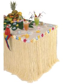 Halloween Table Decoration Grass With Flowers 275 x 75cm