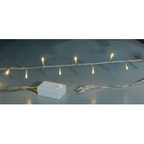 100Led Λαμπάκια Με Πρόγραμμα ,Διάφανο Καλώδιο/Θερμό Λαμπάκι ,6,5 Μέτρα
