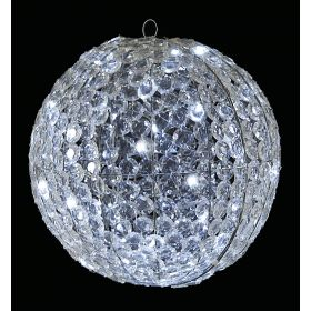 Illuminated CRYSTAL BALL WITH WHITE LIGHT 30cm
