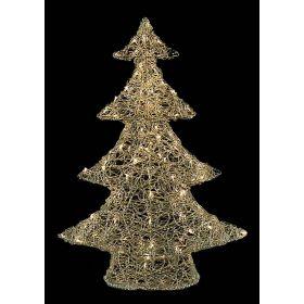 Led Φωτιζόμενο Ακρυλικό Δέντρο Με Θερμό Φωτισμό 47cm