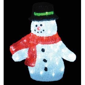 LED ILLUMINATED ACRYLIC SNOWMAN,40 (H) cm