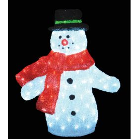 LED ILLUMINATED ACRYLIC SNOWMAN,60 (H) cm