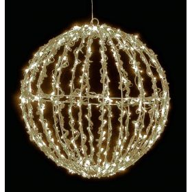 LED illuminated ACRYLIC BALL WITH HOT LIGHTING AND TRANSFORMER IP44,25cm