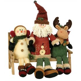 Plush SET WITH snowman,Santa Claus and reindeer MUSIC AND INITIATING 35cm