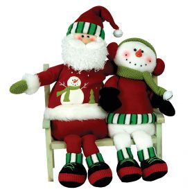 LOUTRINOS SANTA CLAUS AND SNOWMAN WITH MUSIC AND MOVEMENT 40cm