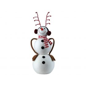 FLOOR DECORATION SNOWMAN 30 x 25 x 65 (h) cm