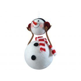 rag PENDANT Christmas ornaments SNOWMAN 18 (h) cm