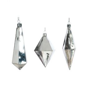 Glass Christmas decorations 13 TO 17cm,SET 3 pieces
