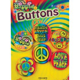 Carnival Set Badges Hippy (set of 5 pieces)