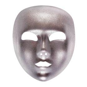 Ασημί Αποκριάτικη Μάσκα Προσώπου