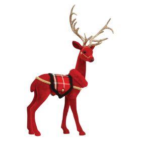 Λούτρινο Χριστουγεννιάτικο Διακοσμητικό Ελάφι 33 x 17 x 59(h)cm
