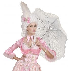 White Halloween Umbrella With Lace 83cm